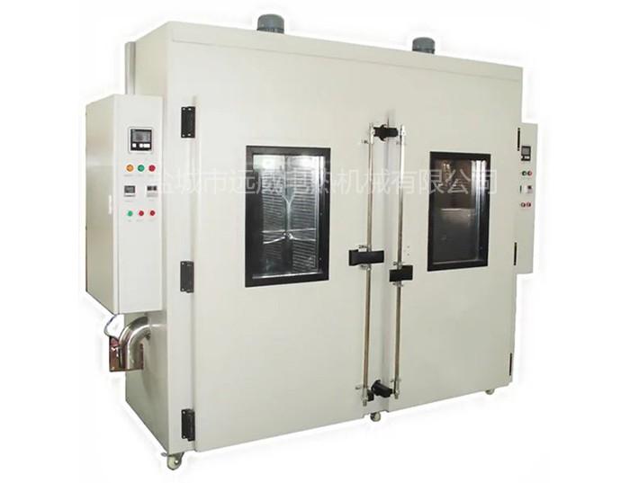 YW系列烘箱外壳由钢板制作,内胆用不锈钢板或钢板制作,外表面烤漆,外壳与内胆之间采用硅酸铝纤维充填,形成可靠的保温层。加热器安装在工作室底部或侧面,每组加热器单独一个开关管理电源通断。配有强压鼓风循环装置,使工作室内温度更趋均匀。配置自动温控系统进行控温。